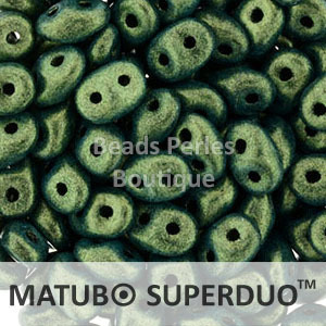 Cristal Checo - Superduo - 2,5x5mm - Metallic Suede Light Green (10 gr.)