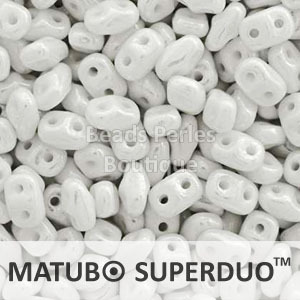 Cristal Checo - Superduo - 2,5x5mm - Chalk White (10 gr.)