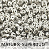 Cristal Checo - Superduo - 2,5x5mm - Silver (10 gr.)