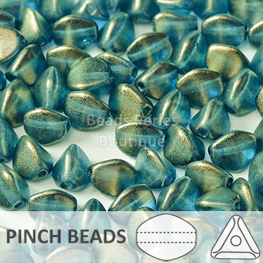 Cristal Checo - Pinch - 5x3mm - Halo Azurite (100 Uds.)