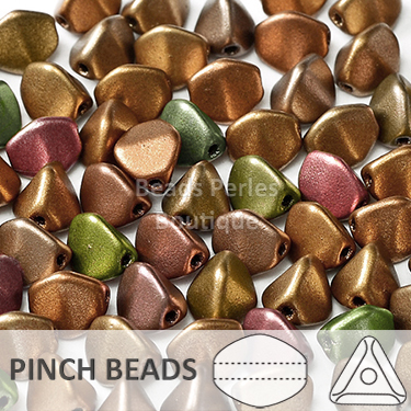 Cristal Checo - Pinch - 5x3mm - Copper Iris Satin (100 Uds.)
