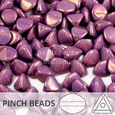 Cristal Checo - Pinch - 5x3mm - Metallic Amethyst Vega Luster (100 Uds.)