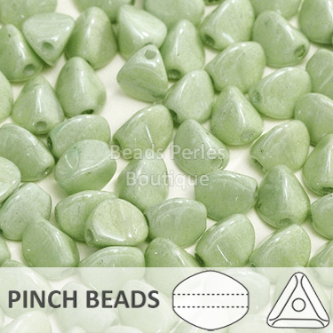 Cristal Checo - Pinch - 5x3mm - Marbled Prairie Green (100 Uds.)