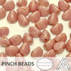 Cristal Checo - Pinch - 5x3mm - Coral Gold Marbled (100 Uds.)