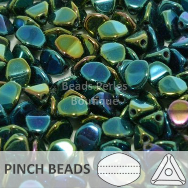 Cristal Checo - Pinch - 5x3mm - Iris Green (100 Uds.)