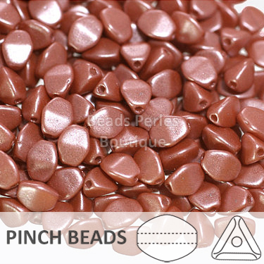 Cristal Checo - Pinch - 5x3mm - Pearl Shine Autumn Leaf (100 Uds.)