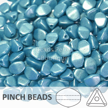 Cristal Checo - Pinch - 5x3mm - Pearl Shine Azure (100 Uds.)