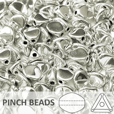 Cristal Checo - Pinch - 5x3mm - Silver (100 Uds.)