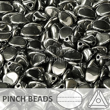 Cristal Checo - Pinch - 5x3mm - Chrome (100 Uds.)