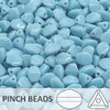 Cristal Checo - Pinch - 5x3mm - Opaque Light Blue Turquoise (100 Uds.)