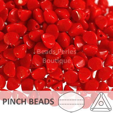 Cristal Checo - Pinch - 5x3mm - Opaque Light Red (100 Uds.)