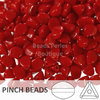 Cristal Checo - Pinch - 5x3mm - Opaque Red (100 Uds.)