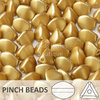 Cristal Checo - Pinch - 5x3mm - Pastel Dark Beige (100 Uds.)