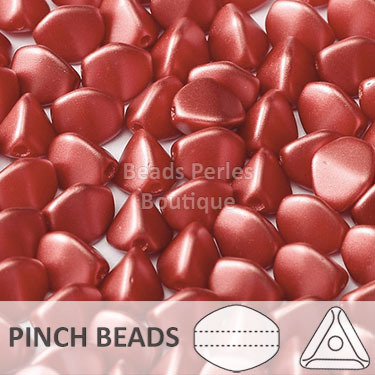 Cristal Checo - Pinch - 5x3mm - Pastel Dark Coral (100 Uds.)