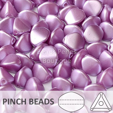 Cristal Checo - Pinch - 5x3mm - Pastel Orchid (100 Uds.)