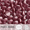 Cristal Checo - Pinch - 5x3mm - Pastel Burgundy (100 Uds.)