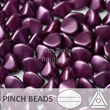 Cristal Checo - Pinch - 5x3mm - Pastel Purple (100 Uds.)
