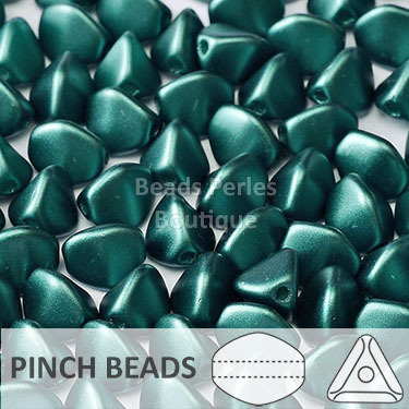 Cristal Checo - Pinch - 5x3mm - Pastel Dark Teal (100 Uds.)