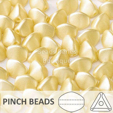Cristal Checo - Pinch - 5x3mm - Pastel Champagne (100 Uds.)