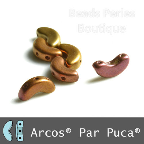 Cristal Checo - Arcos par Puca - 5x10mm - Copper Iris Satin (5 gr.)