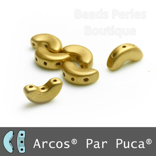 Cristal Checo - Arcos par Puca - 5x10mm - Gold Satin (5 gr.)