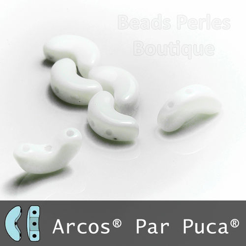 Cristal Checo - Arcos par Puca - 5x10mm - Chalk White (5 gr.)