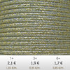 Textil - Soutache METALLICUM - 3mm - Aurum Sharkskin (2 metros)