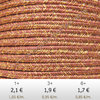 Textil - Soutache METALLICUM - 3mm - Cuprum Mesa Rose (2 metros)