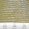 Textil - Soutache METALLICUM - 3mm - Aurum Cream (2 metros)