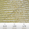 Textil - Soutache METALLICUM - 3mm - Aurum Ivory (2 metros)