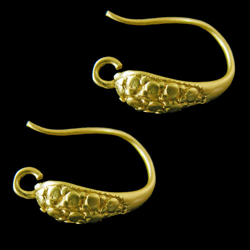 Fornitura - Pendiente - 15,4x4,8mm - Color ORO MATE (2 pares)