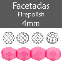 Cristal Checo - Facetada - 4mm - Pearl Shine Pink (100 Uds.)