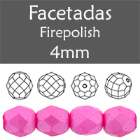 Cristal Checo - Facetada - 4mm - Pearl Shine Rose (100 Uds.)
