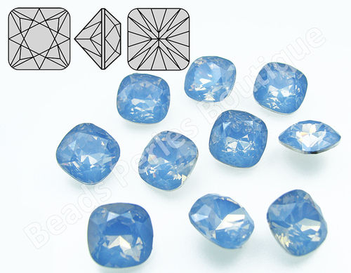 Cabuchón - Resina Pointback - Square 12x12 mm - Air Blue Opal (2 Uds.)