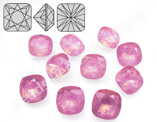 Cabuchón - Resina Pointback - Square 12x12 mm - Rose Water Opal (2 Uds.)