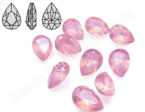 Cabuchón - Resina Pointback - Drop 10x14 mm - Rose Water Opal (2 Uds.)