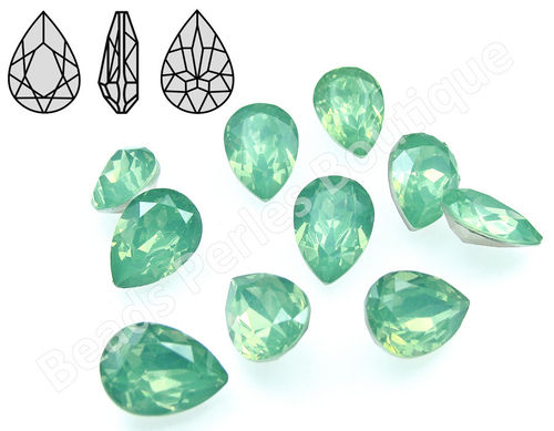 Cabuchón - Resina Pointback - Drop 10x14 mm - Chrysolite Opal (2 Uds.)