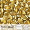 Cristal Checo - Pinch - 5x3mm - Gold Satin (100 Uds.)
