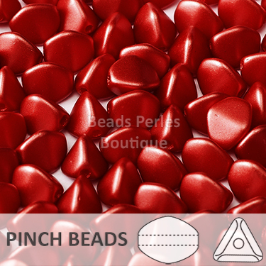 Cristal Checo - Pinch - 5x3mm - Lava Red (100 Uds.)