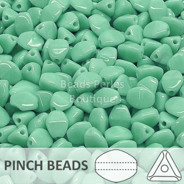 Cristal Checo - Pinch - 5x3mm - Opaque Turquoise (100 Uds.)