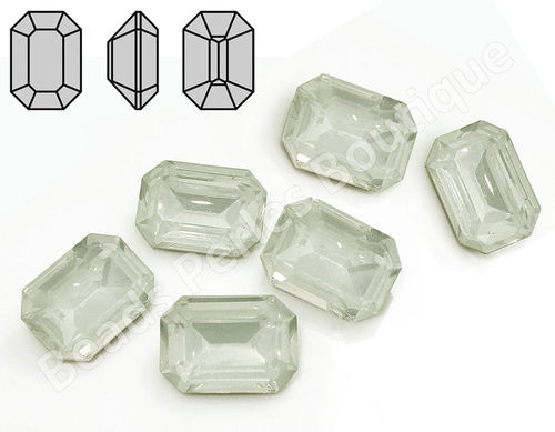 Cabuchón - Resina Pointback - Octagon 13x18 mm - White Opal (2 Uds.)