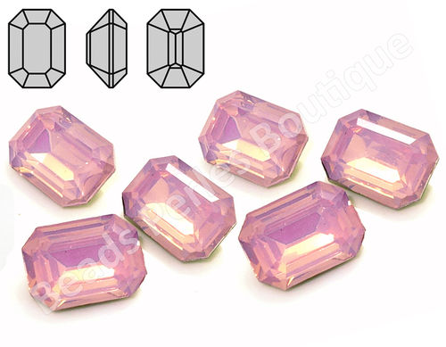 Cabuchón - Resina Pointback - Octagon 13x18 mm - Rose Water Opal (2 Uds.)