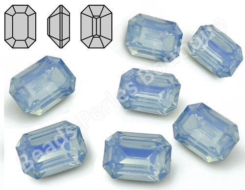 Cabuchón - Resina Pointback - Octagon 13x18 mm - Air Blue Opal (2 Uds.)