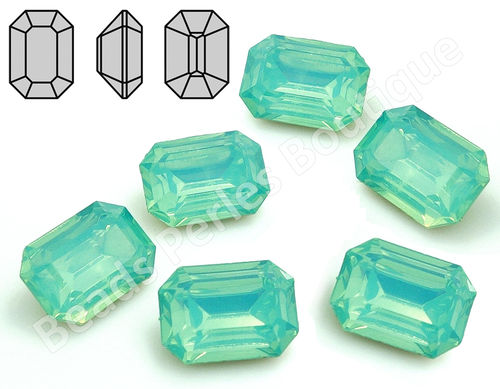 Cabuchón - Resina Pointback - Octagon 13x18 mm - Chrysolite Opal (2 Uds.)