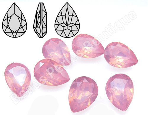 Cabuchón - Resina Pointback - Drop 13x18 mm - Rose Water Opal (2 Uds.)