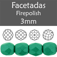 Cristal Checo - Facetada - 3mm - Powdery Teal (100 Uds.)
