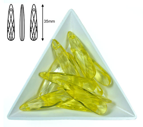 Gota acrilica facetada - 35x09x05mm - Lemon - 14 (2 Uds.)
