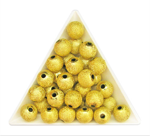 Bola acrílica STARDUST - 10mm - Gold StarDust (10 Uds.)