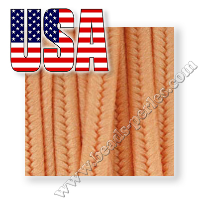 Textil - Soutache USA Poliester - 3mm - Peach (5 metros)