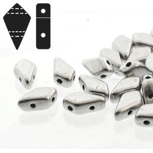Cristal Checo - Kite Beads - 9x5mm - Silver Satin (5 gr.)